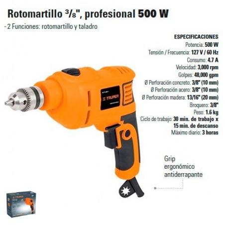 "Rotomartillo 3/8"" Profesional 500W TRUPER"