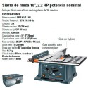 "Sierra de Mesa 10"" 2.2HP TRUPER"