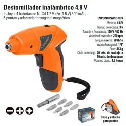 Destornillador Inalambrico 4.8V TRUPER