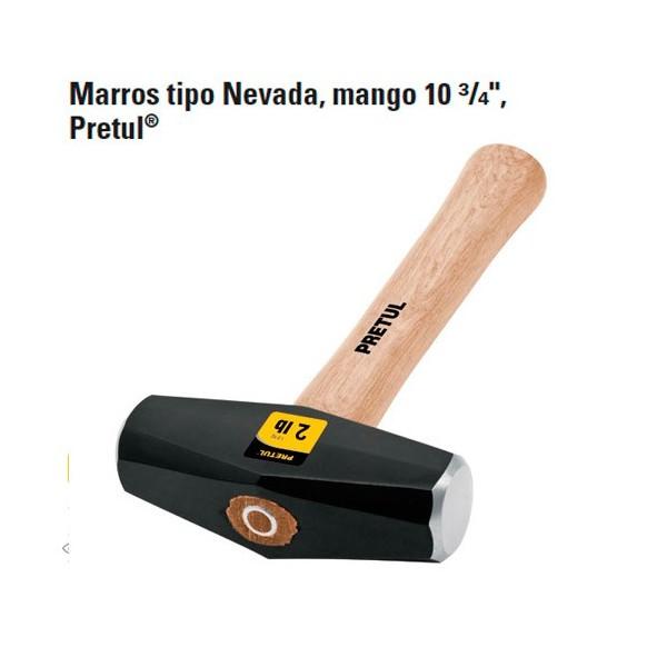 """Marro Tipo Nevada Mango 10 3/4"""" PRETUL"""
