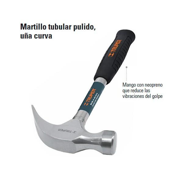 Martillo Tubular Pulido Uña Curva TRUPER