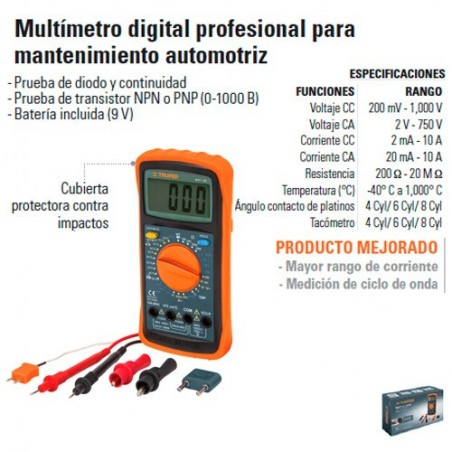Multimetro Profesional Uso Automotriz TRUPER