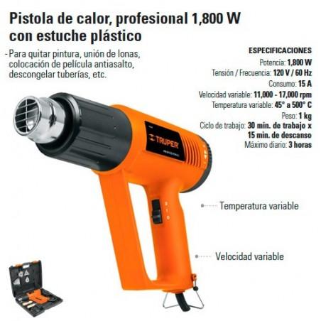 Pistola de Calor Profesional 1800 W TRUPER
