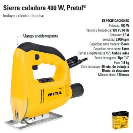 Sierra Caladora 400 W PRETUL