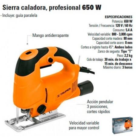 Sierra Caladora Profesional 650W TRUPER