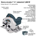 """Sierra Circular 7 1/4"""" Industrial 1600 W TRUPER"""