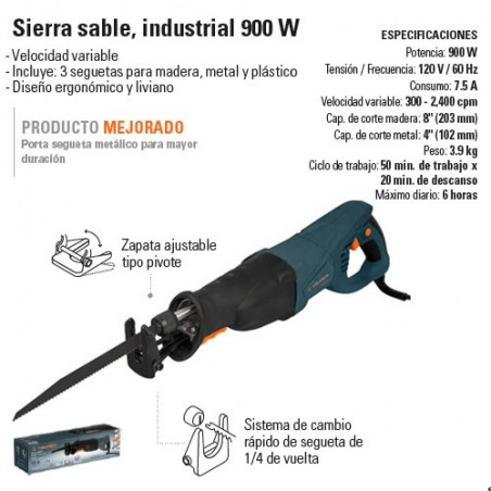 Sierra Sable Industrial 900 W TRUPER