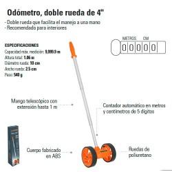 "Odometro Doble Rueda de 4"" TRUPER"
