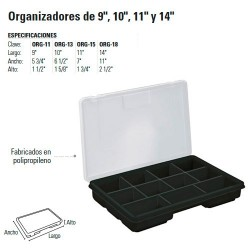 """Organizador de 9"""" 10"""" 11"""" y 14"""" TRUPER"""