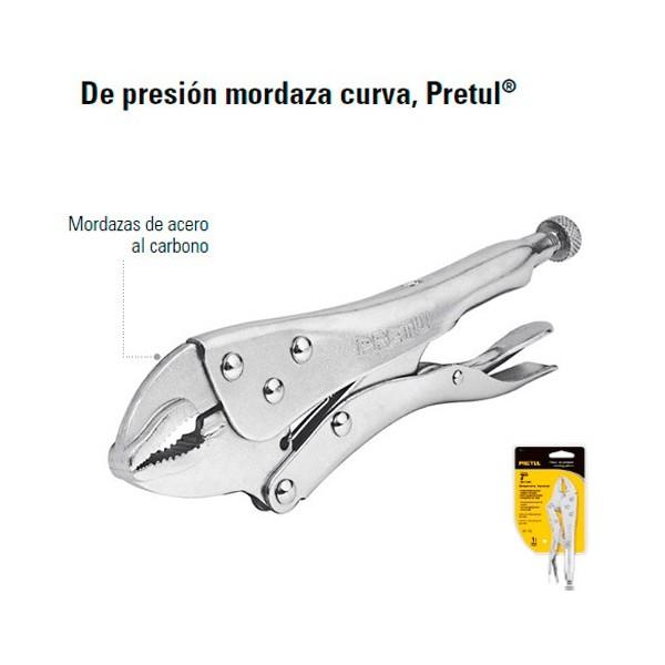 Pinzas de Presion Mordaza Curva PRETUL
