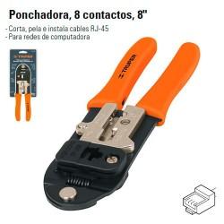 Pinza Ponchadora 8 Contactos TRUPER