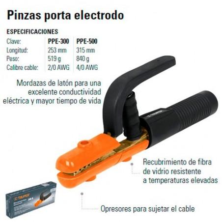 Pinzas Porta Electrodo TRUPER