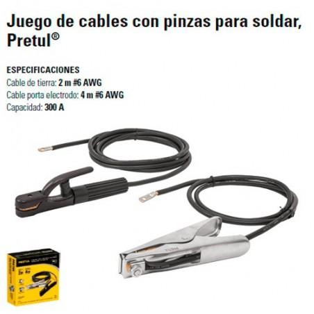 Juego de Cables Con Pinzas Para Soldar PRETUL