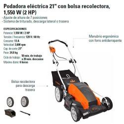 """Podadora Electrica 21"""" 1,550 W (2HP) TRUPER"""