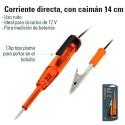Probador de Corriente Directa Con Caiman 14 cm TRUPER