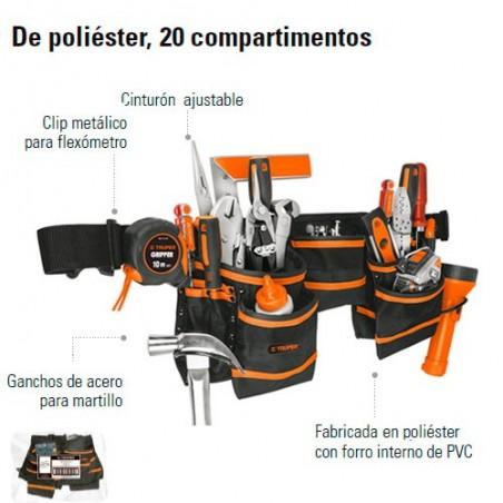Portaherramientas de Poliester 20 Compartimentos TRUPER