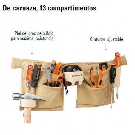 Portaherramientas de Carnaza 13 Compartimientos TRUPER
