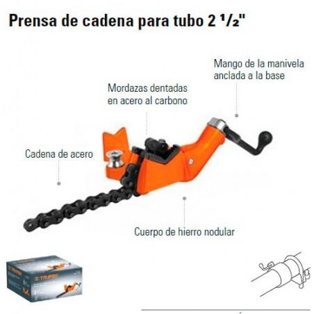 """Prensa de Cadena Para Tubo 2 1/2"""" TRUPER"""