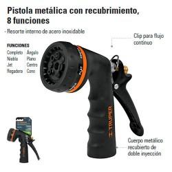 Pistola Para Riego Metalica 8 Funciones TRUPER