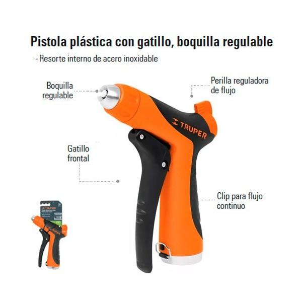 Pistola Para Riego Boquilla Regulable TRUPER