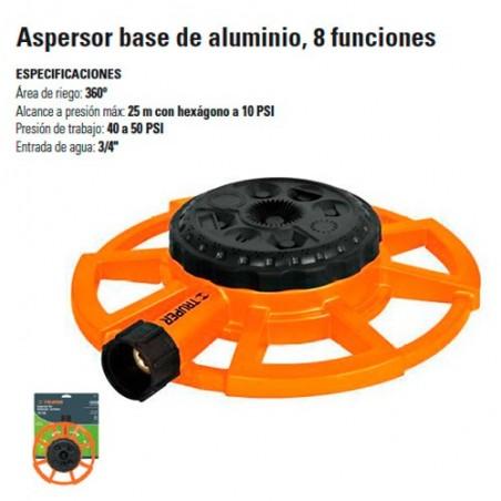Aspersor Base de Aluminio 8 Funciones TRUPER