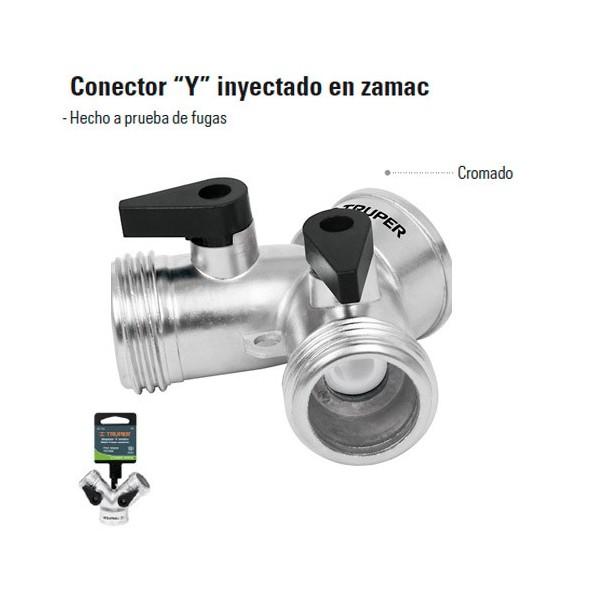 """Conector Y"""" Inyectado en Zamac TRUPER"""""""