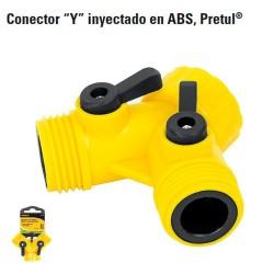 """Conector Y"""" Inyectado en ABS PRETUL"""""""