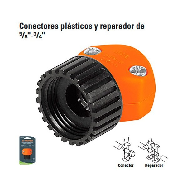 """Conectores Plasticos y Reparador de 5/8"""" - 3/4"""" TRUPER"""