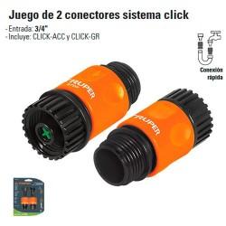 Juego de 2 Conectores Sistema Click TRUPER
