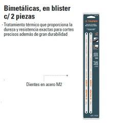 Seguetas Bimetalicas en Blister 2 Piezas TRUPER