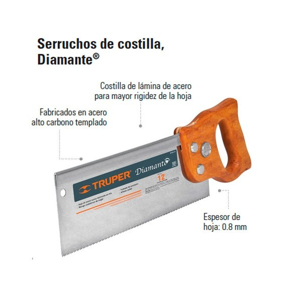 Serrucho Diamante de Costilla TRUPER