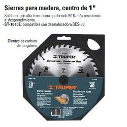 """Sierra Para Madera 10"""" Centro de 1"""" TRUPER"""
