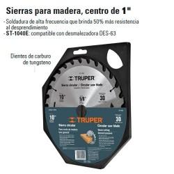 """Sierras Para Madera 10"""" Centro de 5/8"""" TRUPER"""
