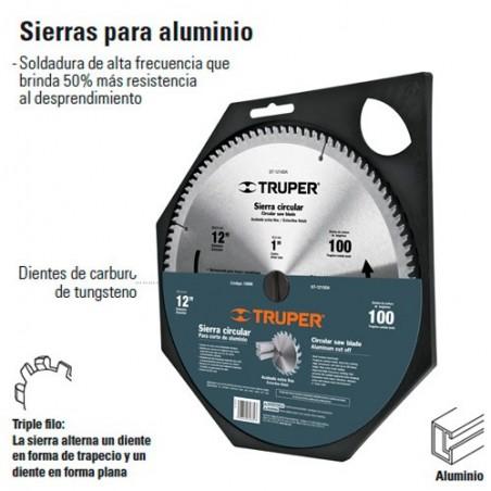 "Sierra Para Aluinio 12"" Centro de 1"" TRUPER"