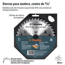 "Sierra Para Aluminio 10"" Centro de 5/8"" TRUPER"