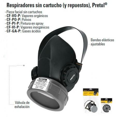 Respirador Sin Cartucho PRETUL