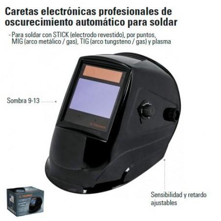 Careta Electronica Profesional de Oscurecimiento Para Soldar TRUPER