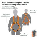 Arnes de Cuerpo Completo 3 Anillos TRUPER
