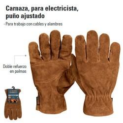 Guantes de Carnaza Para Electricista TRUPER