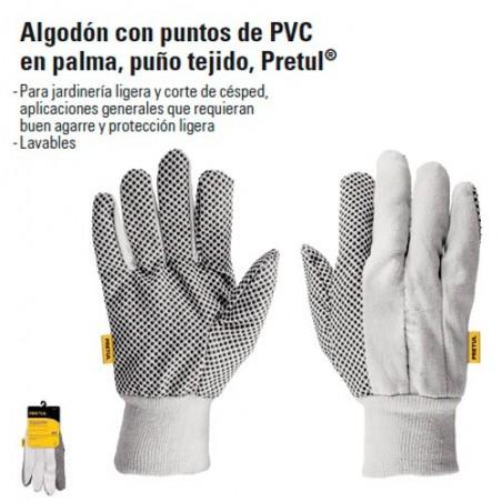 Guantes de Algodón Con Puntos de PVC TRUPER