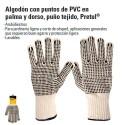 Guantes de Algodón Con Puntos de PVC PRETUL