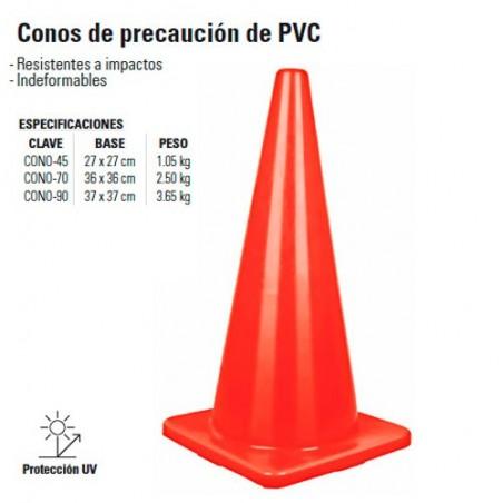 Conos de Precaución de PVC TRUPER
