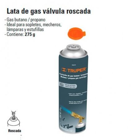Lata de Gas Válvula Roscada TRUPER