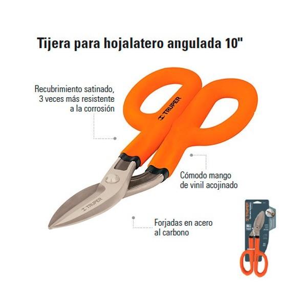 "Tijera Para Hojalatero Angulada 10"" TRUPER"