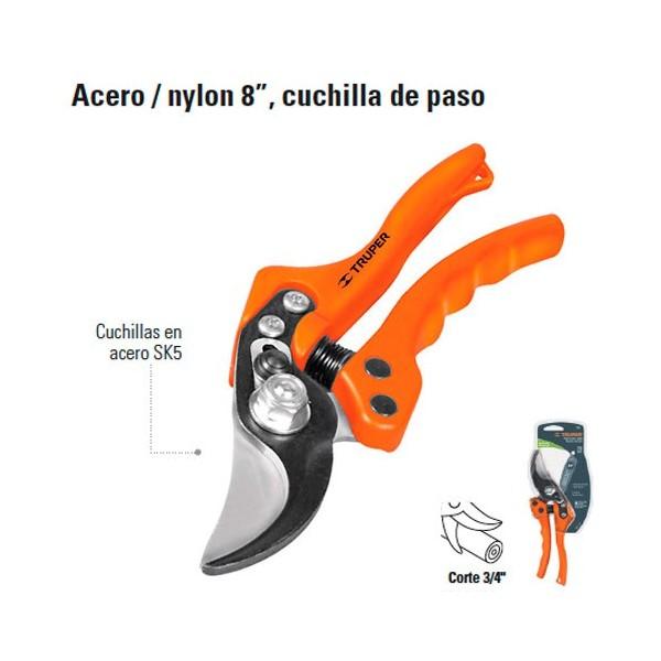 """Tijera Para Podar de Acero / Nylon 8"""" TRUPER"""