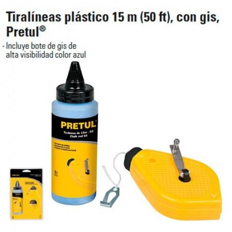 Tiralineas Plastico 15 m Con Gis PRETUL