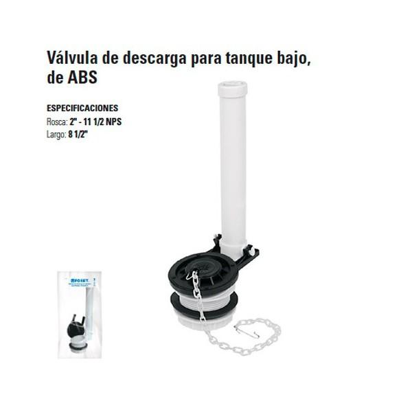 Valvula de Descarga Para Tanque Bajo de ABS FOSET