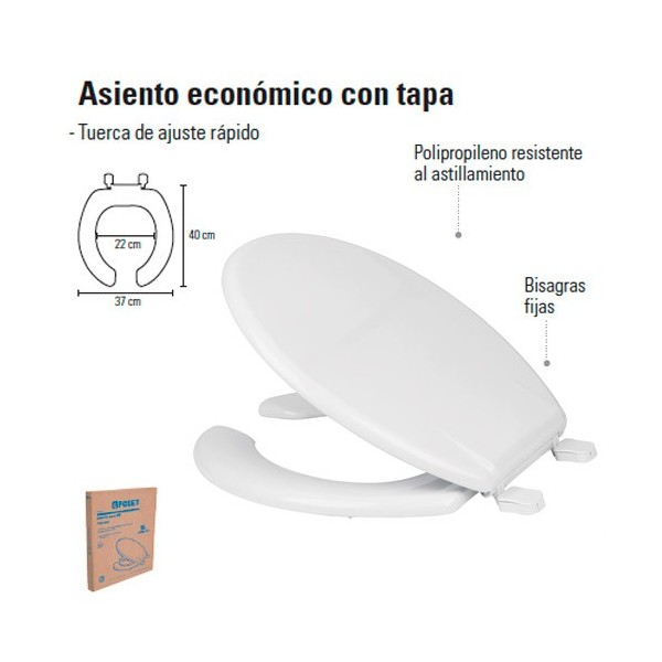 Asiento Economico Con Tapa FOSET