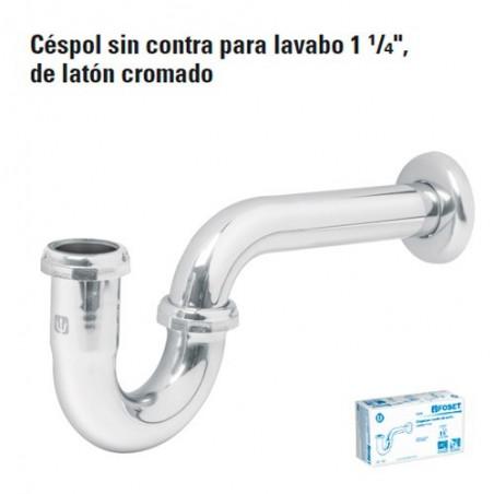 """Cespol sin Contra Para Lavabo 1 1/4"""" de Laton FOSET"""