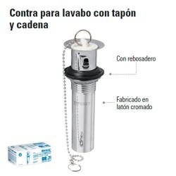 Contra para Lavabo con Tapon y Cadena FOSET